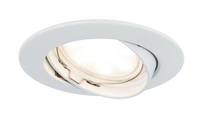 Prem inb Coin dim sat rond wendb LED 1x7W 2700K 230V 51mm wit mat/alu zink