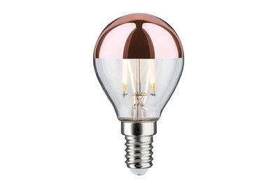 LED kogellamp 2,5 W E14 230 V kopspiegel koper 2700K