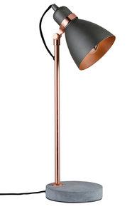Neordic Orm tafellamp max. 1x20W E27 Grijs/koper mat 230V metaal/beton