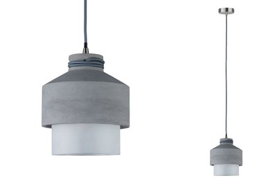 Neordic Helin hanglamp max. 1x20W E27 grijs/satijn 230V beton/glas