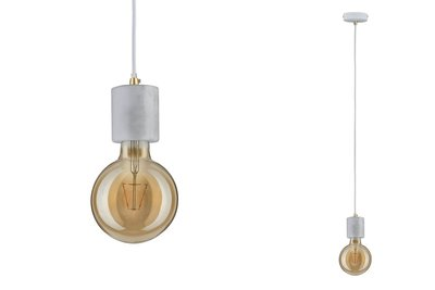 Neordic Soa hanglamp max. 1x20W E27 Wit 230V marmer