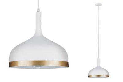 Neordic Embla hanglamp max. 1x20W E27 wit mat/goud 230V metaal
