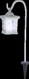 Solar Tuin Lataarn vierkant  flikkerend licht wit