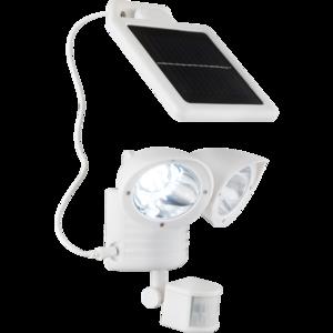 Solar bouwlamp met 2 spots wit