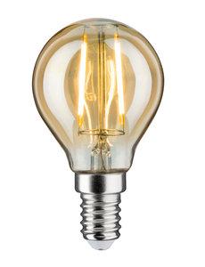 LED Vintage kogellamp 2W E14 230V goud 1700K