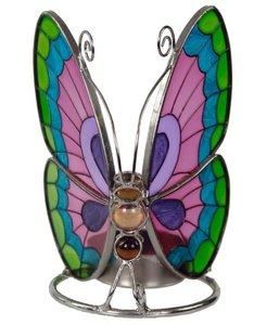 Waxinelichthouder vlinder Glas bloemenpracht