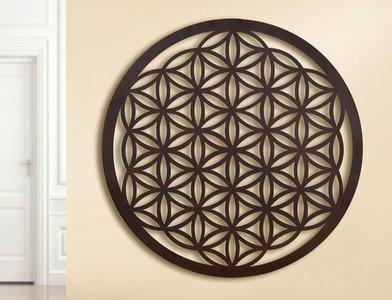 Wanddecoratie metaal bloemenkunst